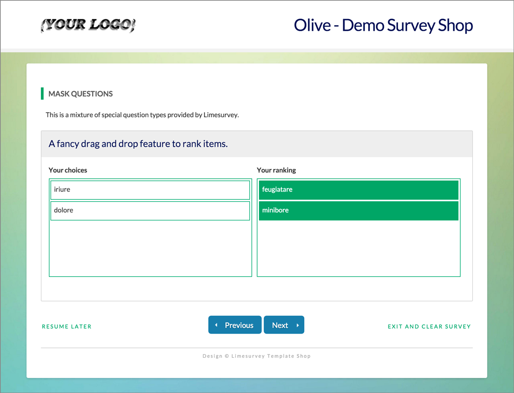 Limesurvey Template Olive