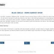 Limesurvey Template Blue Circle