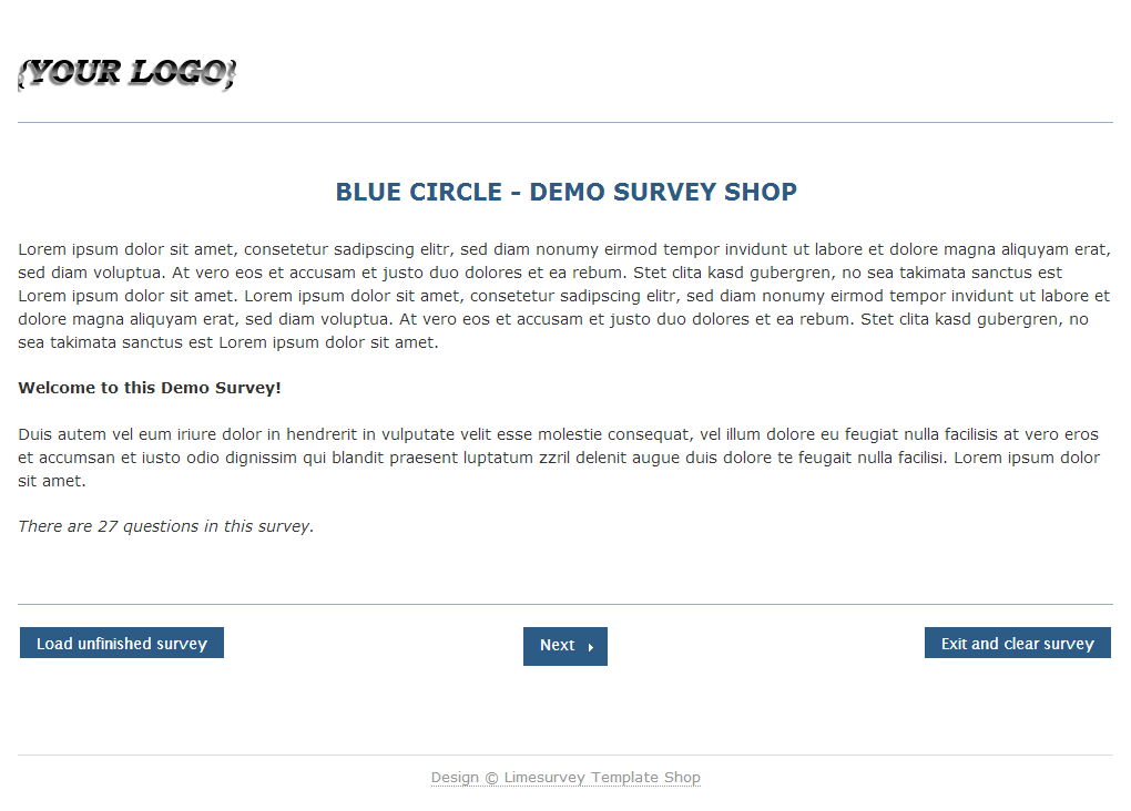 Limesurvey Template Blue Circle