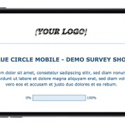 Limesurvey Template Blue Circle Mobile