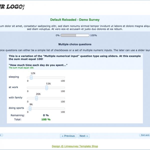 Limesurvey Template Default Reloaded