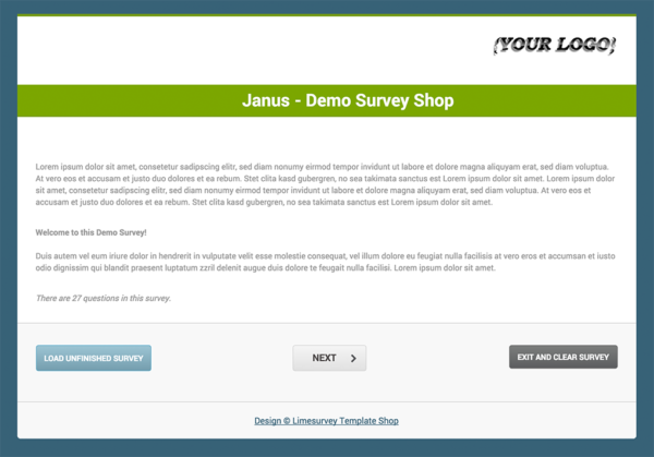 Limesurvey Template Janus