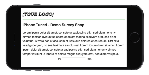 Limesurvey Template iPhone Tuned