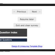 Limesurvey Template iPhone Tuned
