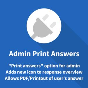Admin Print Answers Limesurvey Plugin