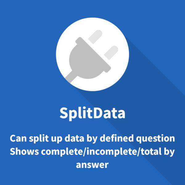 Limesurvey plugin to split up data